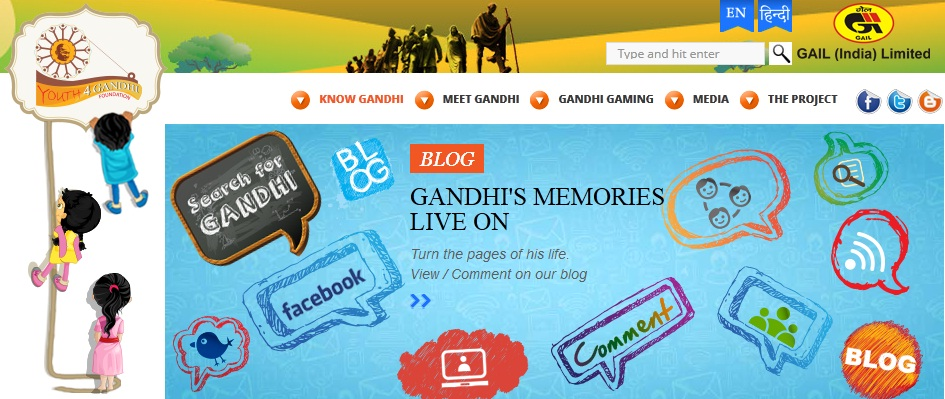 Search_for_Gandhi_website