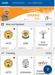 UMANG App Unified Mobile Application for New-age Governance