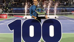 roger federer 100th title dubai open 2019